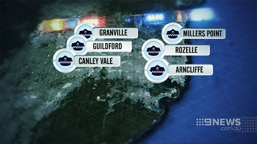 Ten simultaneous raids took place across Sydney. (9NEWS)