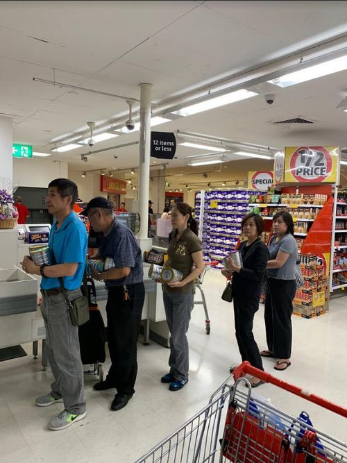 Shoppers allegedly gaming the baby formula rule were not concerned with footage being captured.