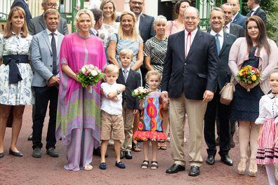 Monaco twins Prince Jacques and Princess Gabriella go back to school