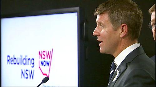 NSW Premier Mike Baird spruiks his $20 billion infrastructure plan
