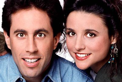<B>The URST:</B> There was always chemistry between Jerry (Jerry Seinfeld) and Elaine (Julia Louis-Dreyfus). During the show's nine-year run they hooked up twice but always went back to being pals, and there were rumours Jerry would propose to her in the series finale (he didn't). Years later, <I>Curb Your Enthusiasm</I>'s <I>Seinfeld</I> reunion revealed that Jerry donated his sperm to Elaine — but they still weren't together.