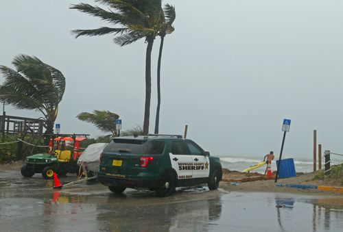 A Broward Sheriff's Office vehicle at the Dania Beach Pier.
