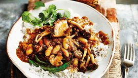 Mushroom and bean caldine recipe