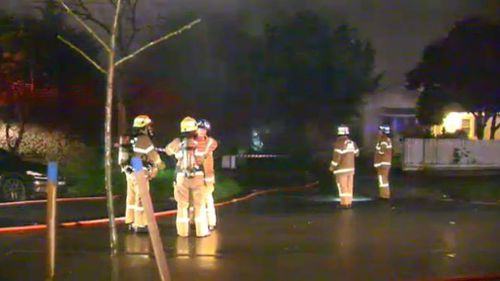 It took 24 firefighters half an hour to bring the blaze under control. (9NEWS)
