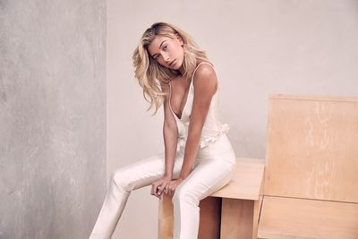 Hailey Baldwin in <em>Harper's Bazaar</em> Australia's November edition.