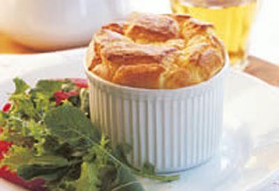 Garlic potato souffles