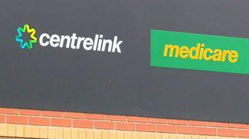 Centrelink and Medicare logos.