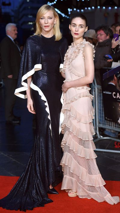 On the promotion circuit for not one, but two upcoming films - <em>Carol </em>and <em>Truth </em>- Cate Blanchett has severely upped the sartorial ante, debuting a series of hot-off-the-runway dresses and power suits, and developing a penchant for the softly tinted Gucci frames that debuted just last month at Milan Fashion Week.