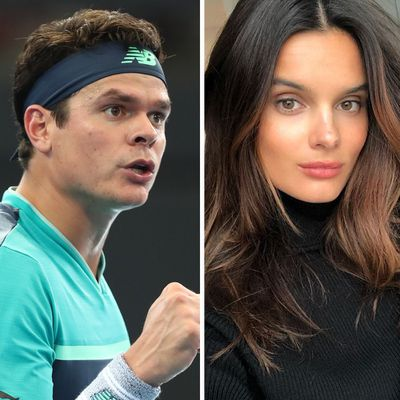 <strong>Milos Raonic and Camille Ringoir</strong>