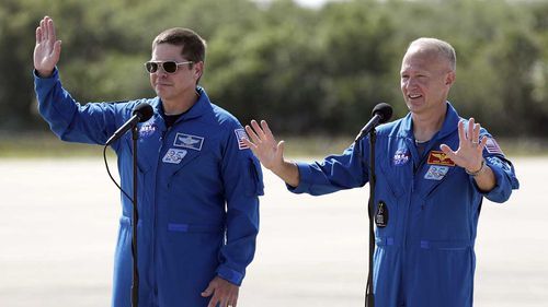 NASA test pilots Bob Behnken and Doug Hurley will be the first astronauts launched into space by a private company.
