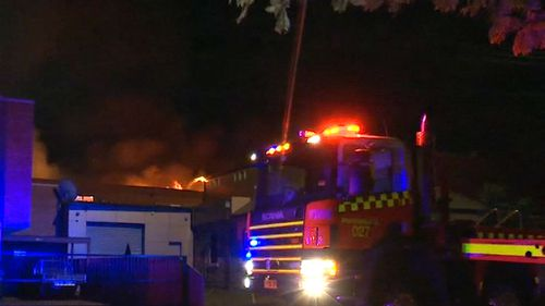 The building was damaged along with neighbouring businesses. (9NEWS)