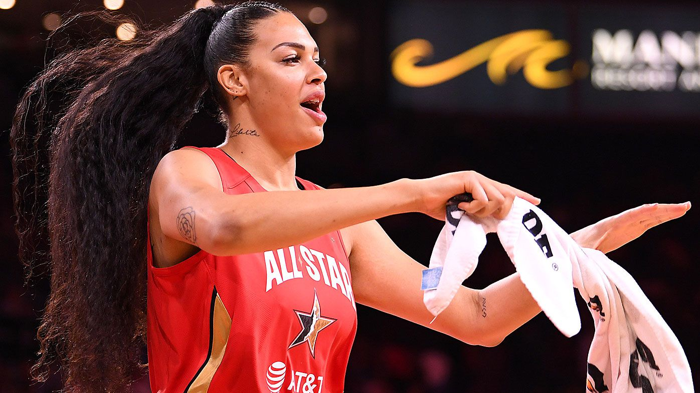 Liz Cambage at the  WNBA All Star Game