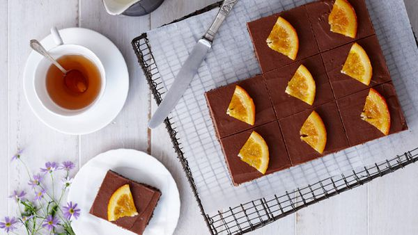 Decadent choc orange slice
