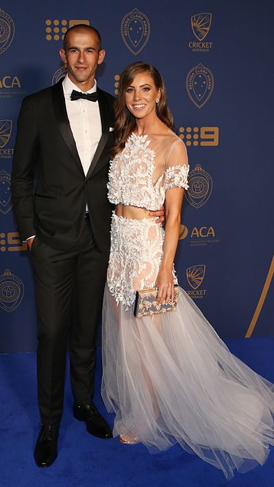 Ashton Agar and his partner Madeleine Hay.
