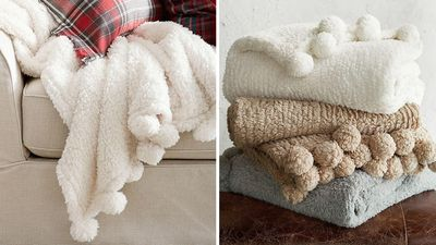Cosy Pom Pom Throw