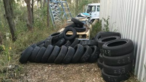 These tyres are believed to have been stolen in a break and enter in April.