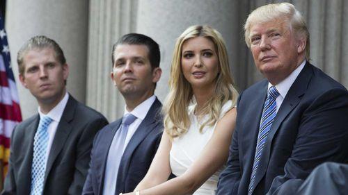 Eric, Donald Jr, Ivanka and Donald Trump. (AAP)