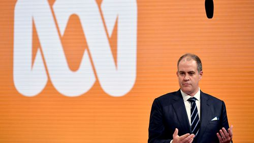 ABC acting managing director David Anderson speaks at an event in Ultimo, Sydney.