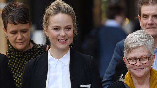 Eryn Jean Norvill gave evidence earlier this week about alleged conduct by actor Geoffrey Rush.