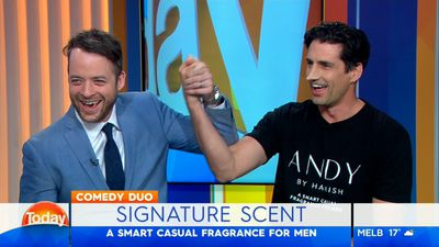Andy Lee debuts dramatic new look during TODAY appearance with Hamish Blake