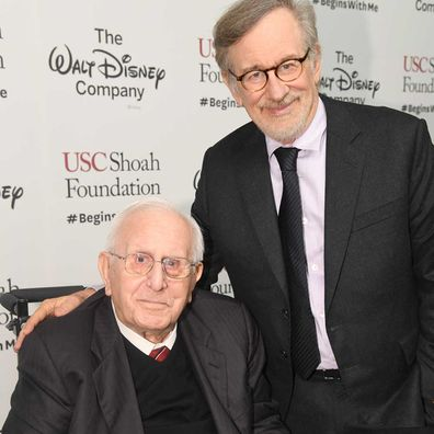 Arnold Spielberg and Steven Spielberg in 2016.