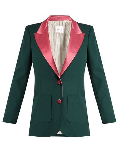 "Racil single-breasted wool blazer, $1232 at <a href=""http://www.matchesfashion.com/au/products/Racil-Yorkshire-single-breasted-wool-blazer-1165228"" target=""_blank"">Matches<br /> </a>"
