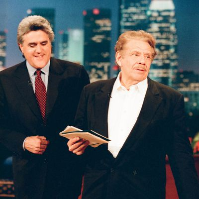 Jerry Stiller and Jay Leno: 1997