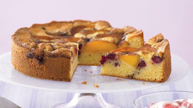 Peach melba spice cake