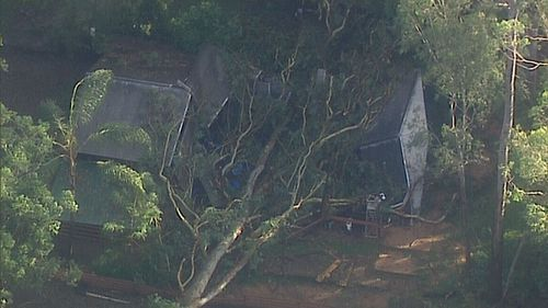 The Koala Park Sanctuary in West Pennant Hills was hit hard on Saturday afternoon.