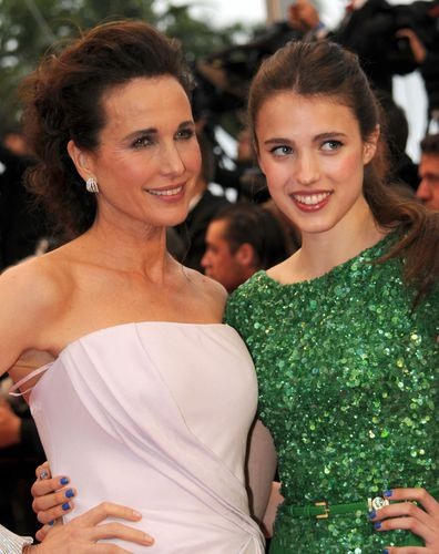 Andie MacDowell, daughter Margaret Qualley, Cannes Film Festival, red carpet