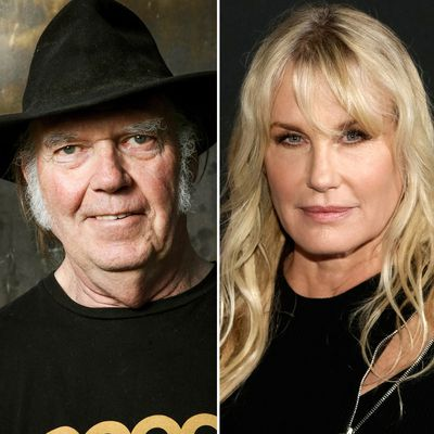<strong>Neil Young, 72, and Daryl Hannah, 57</strong>
