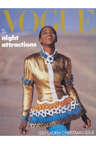 The first black model to be featured on the cover of <em>British Vogue </em>in January 1987