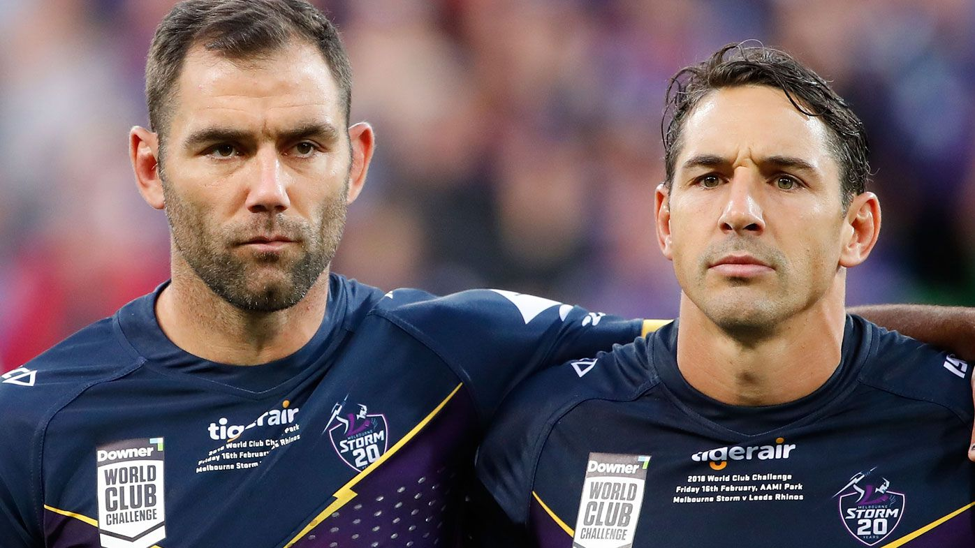Cameron Smith and Billy Slater formed an integral part of not only the Storm but each other's careers. (Getty)