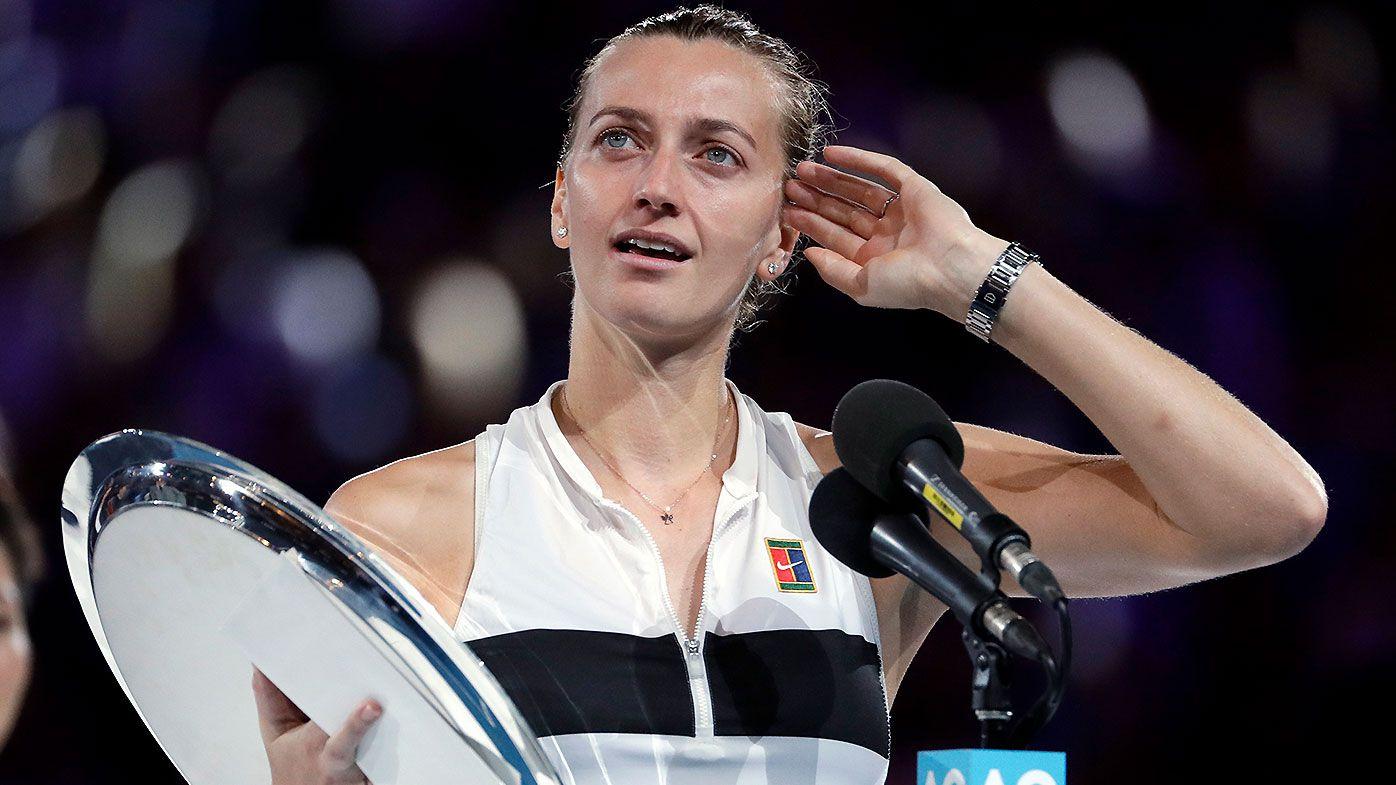 Crowd's heartwarming reaction to emotional Petra Kvitova speech after Australian Open final