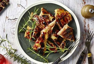 Jamie Fleming's cranberry glazed sticky lamb belly