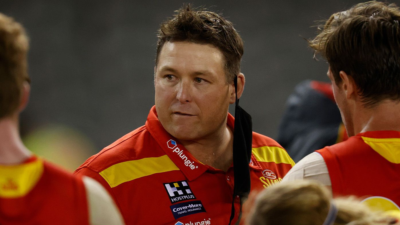 The AFL could be on the verge of forcing Stuart Dew out of his job as Gold Coast head coach, Caroline Wilson says
