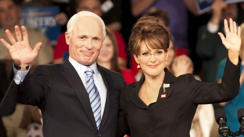 Ed Harris and Julianne Moore play John McCain and Sarah Palin in the film 'Game Change'.