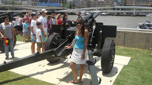 Sophie Collombet visiting South Bank in Brisbane. (supplied)