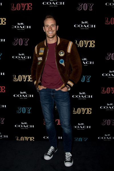 Actor Joel Jackson at the Coach launch, Sydney.