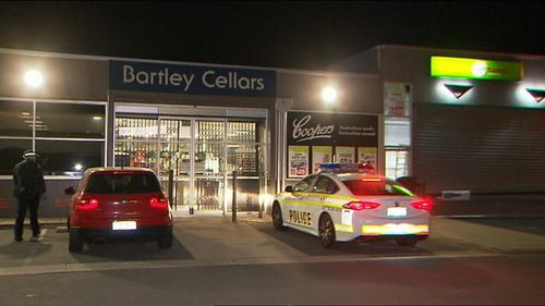 An 18-year-old has allegedly tried to rob a bottle shop in Adelaide.