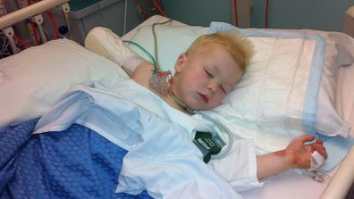 Knox was rushed to hospital following the lawn mower accident.