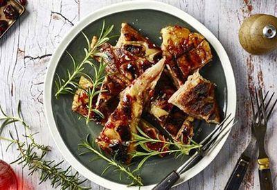 Jamie Fleming's cranberry glazed sticky lamb belly