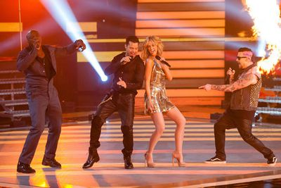 """Of the coaches' performances this season, 'Livin' La Vida Loca' during the Semi-Finals rocked the most. Ricky's pelvis swivelled, Delta narrowly avoided a wardrobe malfunction with all her shimmying, and the fireworks on stage delivered pure spectacle.<br/><br/><b><a href=""""http://www.thevoice.com.au/"""">For the latest updates, visit The Voice official website.</a></b>"""