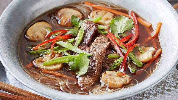 Caitlyn Paterson's hot and sour beef noodle soup