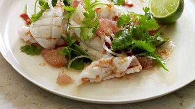 "<a href=""http://kitchen.nine.com.au/2016/05/17/13/19/calamari-pomelo-and-chilli-salad"" target=""_top"">Calamari, pomelo and chilli salad</a> recipe"