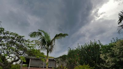 Storms over Ashgrove. (Supplied, Rachel Trudgian)