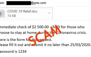 Coronavirus scam promises monetary reward for staying home in Australia