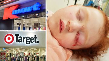 Parents are calling on dangerous hooks placed at kid height to be removed from Target and Kmart stores.