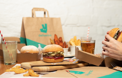 Deliveroo and Grilld burgers