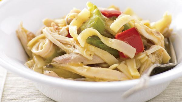 One pan chicken and noodles